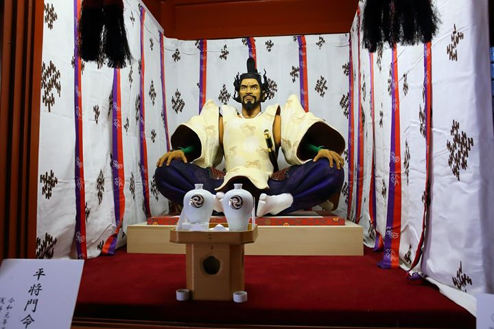 7月1日に神田明神資料館で開催の『平将門公展2019』で参加する淺野健一さん。
