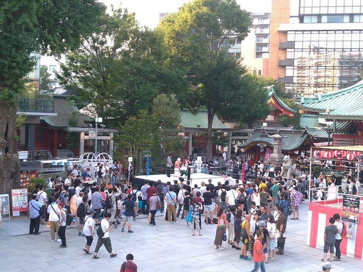 神田プロレスで境内が盛り上がっていますよ!